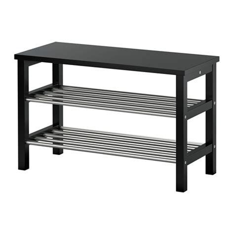 shoe bench ikea tjusig bench with shoe storage black 81x50 cm ikea