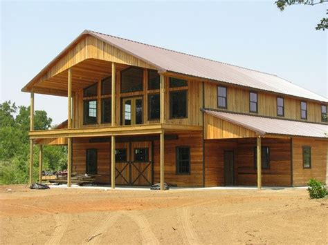 pole barn houses large open patio with cover the bottom also barn homes and ideas house