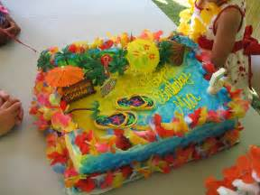 s hawaiian luau birthday cake a photo on
