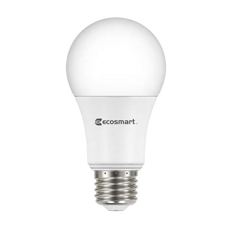 led light bulbs a19 ecosmart 60w equivalent daylight a19 basic non dimmable