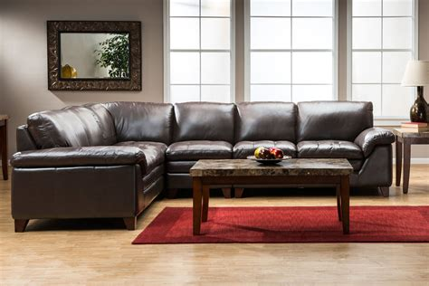 amaretto 2 leather sectional at gardner white