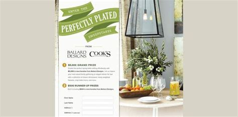 Ballard Designs Sweepstakes - perfectly plated sweepstakes win up to 5 000 in ballard designs