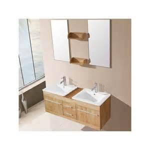 meuble salle de bain de luxe en bois massif ref sd931bn