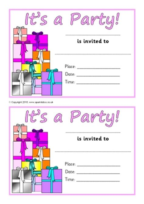 Invitation Letter Ks1 Invitation Writing Frames And Printable Page Borders Ks1