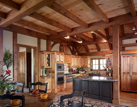 Timber Frame Designed Kitchens   Mill Creek Post & Beam