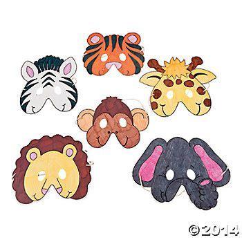 printable zoo animal masks color your own zoo animal masks animal mask templates