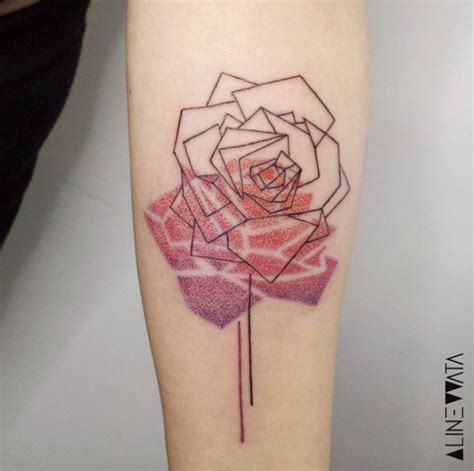 geometric rose tattoo best 25 geometric ideas on