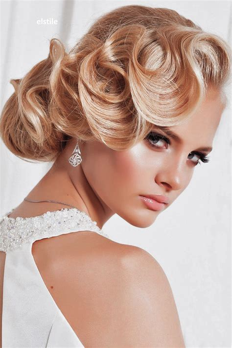Wedding Hair Updo Vintage by Trubridal Wedding 27 Utterly Gorgeous Vintage