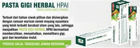 Pasta Gigi Herbal Hpai Non Flouride Hpa International Pasta Gigi Non Fluoride