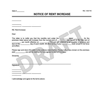 Rent Increase Notice Template by Create A Rent Increase Notice In Minutes Templates