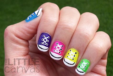 easy nail art converse 31 day challenge day 7 rainbow nails converse nail