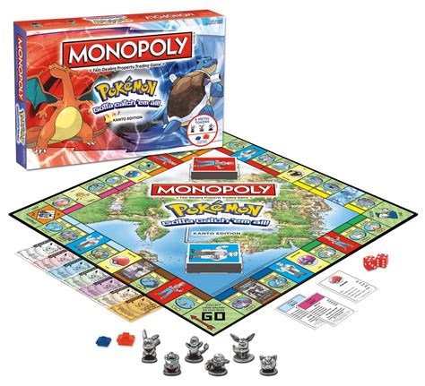 Amazon Com Monopoly Pokemon Kanto Edition Game Toys Games