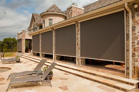 Roll Patio Screens by Roll Up Solar Screens Sun Shade