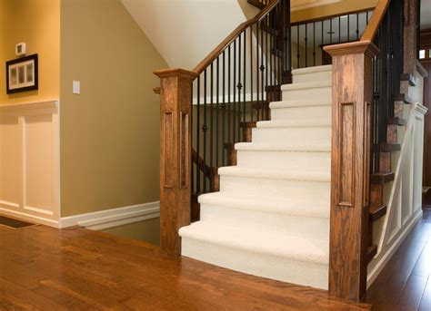 carpeted stair case with hardwood landing contemporary staircase detroit by the carpet guys