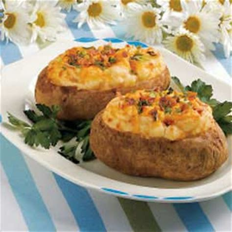 Reader Recipe Cheesy Baked Potatoes by Cheesy Baked Potatoes Recipe Taste Of Home
