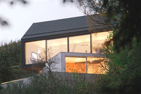 Saddle Roof Design Intriguing Two Volume Modern Residence In Germany Studio