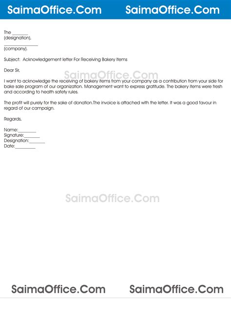 Acknowledgement Letter Of Goods Receipt Acknowledgement Letter For Receiving Goods Documentshub