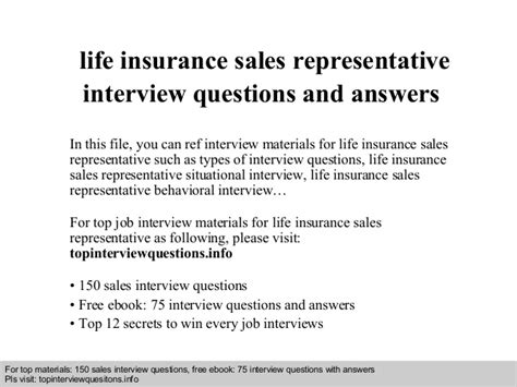 biography interview questions pdf life insurance sales representative interview questions