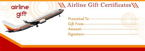 Flight Ticket Template Gift by Airline Gift Certificate Template Free Gift Certificate