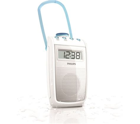 bathroom radio uk buy philips portable analogue bathroom radio white