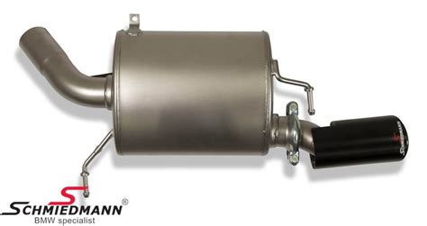 Custom Slencer Akrapovic Tutanium Look scm980644 schmiedmann by supersprint sport rear silencer with 1x89mm outlet l side titanium