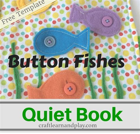 quiet book ideas button fishes quiet book template