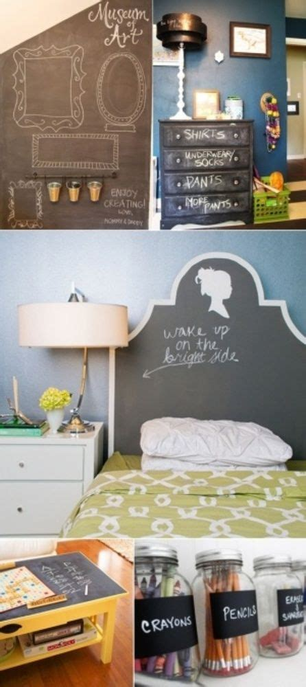 chalkboard paint bedroom ideas diy chalkboard paint ideas for the home pinterest