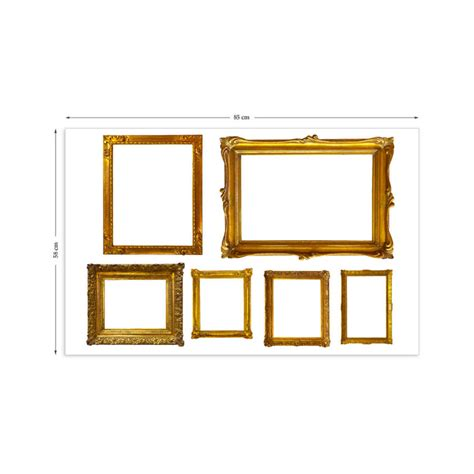 wall stickers frames gold photo frames wall stickers by the binary box notonthehighstreet