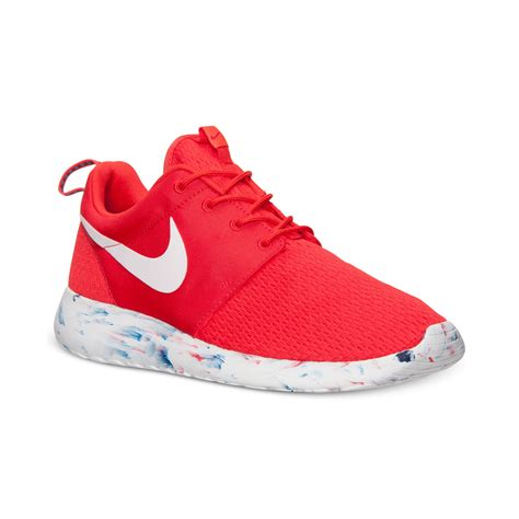 casual sneakers mens lyst nike mens roshe run casual sneakers from finish