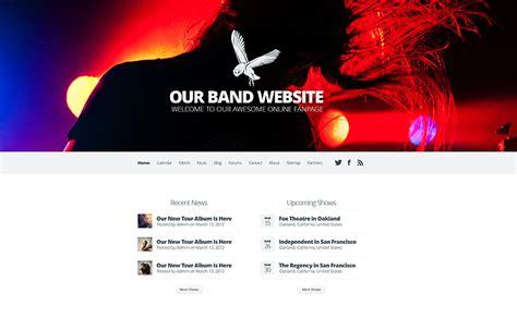 wordpress layout per page sito internet per musicisti gruppi e cantanti em3design