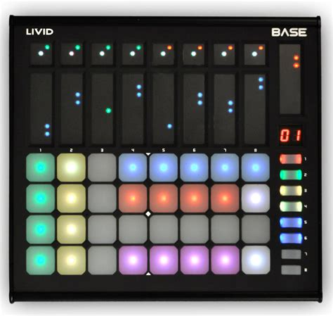 livid color livid base colored pads meet touch faders 399 gallery