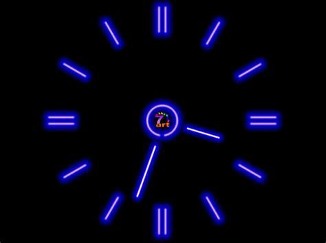 wallpaper clock windows 7 7art fluorescent clock screensaver enliven your room with