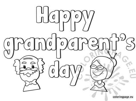 coloring page for grandparents day happy grandparent s day coloring page