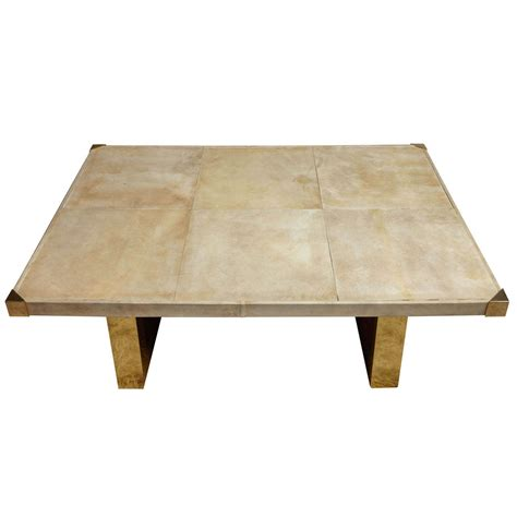 60 Coffee Table Italian 60 S Parchment Coffee Table At 1stdibs
