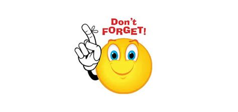 Dont Forget The Detox by Dont Forget Smiley Clipart