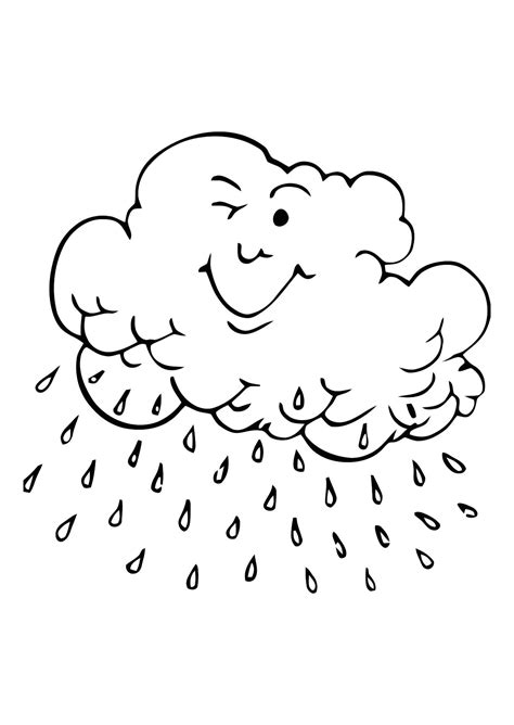 coloring pages with rain rainy weather coloring pages