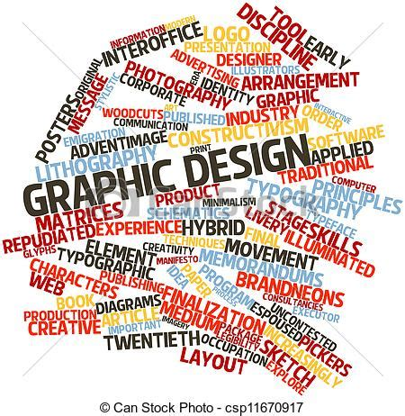 graphics design words clipart of graphic design abstract word cloud for