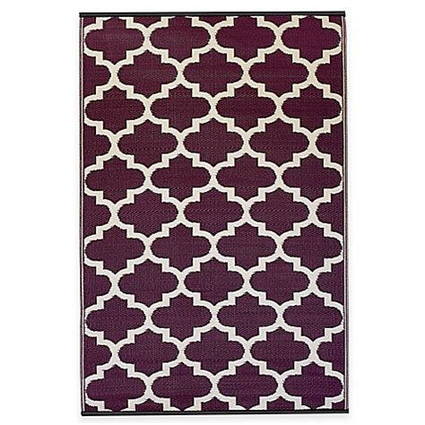 Fab Outdoor Rugs Fab Habitat Tangier Trellis Indoor Outdoor Rug Bed Bath Beyond
