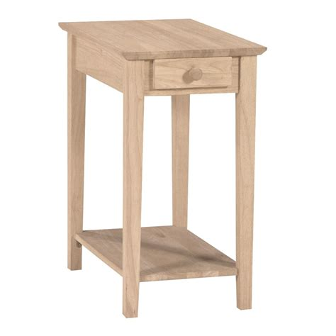narrow accent table shop international concepts narrow natural rubberwood end