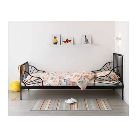 ikea minnen bed minnen extendable bed black 80x200 cm ikea