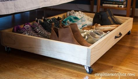 diy shoe drawer diy bed storage drawer sweet pea
