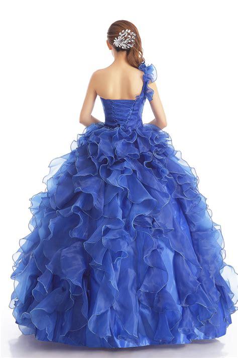 Gaun Import jual wedding dress gaun pengantin import warna biru model