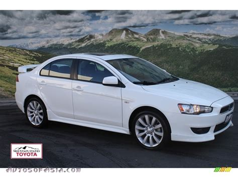 lancer mitsubishi white 2009 mitsubishi lancer gts in wicked white satin 034996