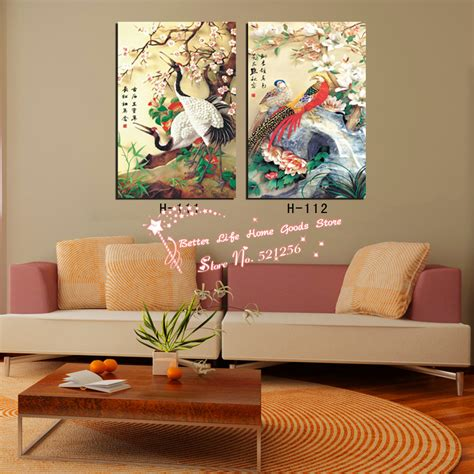 home decor from china modern wall home decoration printed painting pictures 2 crowned crane