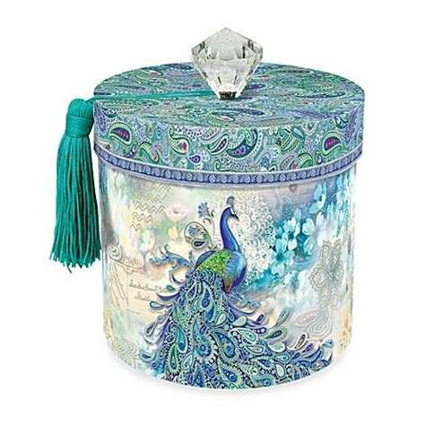 peacock bathroom set toilet paper holder in paisley peacock bed bath beyond