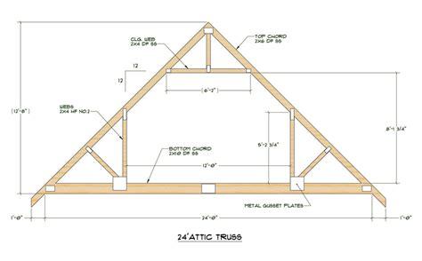Roof Truss Design Attic Roof Truss Design