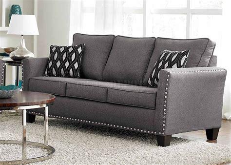 3050 Sofa In Grey Chenille Fabric W Options Grey Chenille Sofa