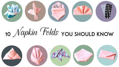 7 basic table napkin folding 10 napkin folds you should mtc