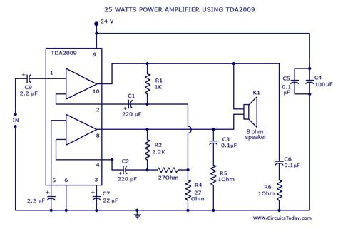 gt power amplifier circuit using tda2009 today s circuits