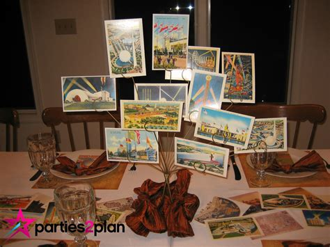 travel themed table decorations tablescape travel theme decorations parties2plan